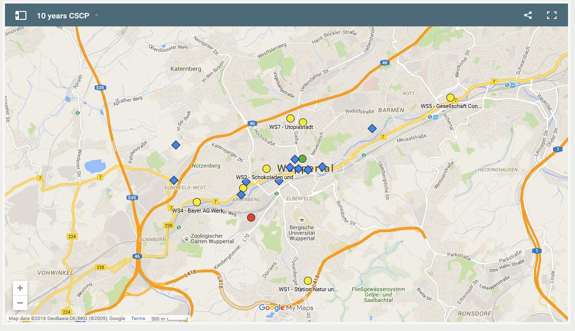 Wuppertal map