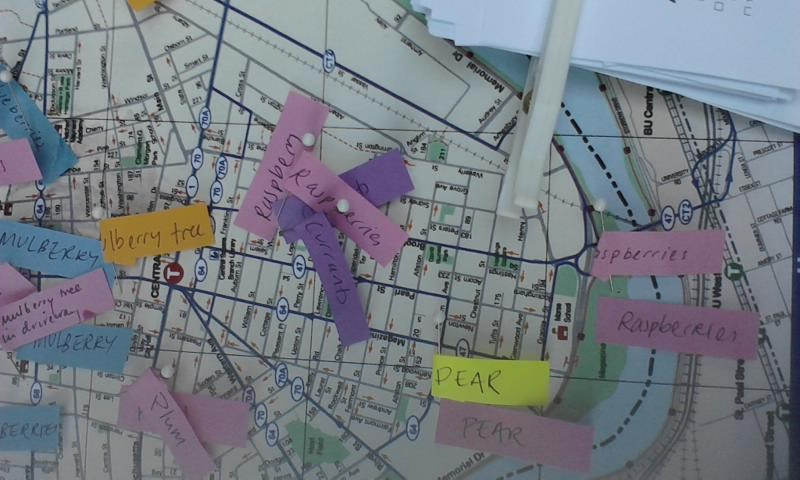 Can community mapping facilitate food sharing?