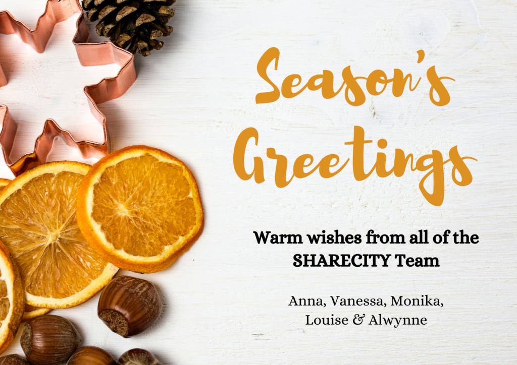 Season's Greetings 2020 from SHARECITY
