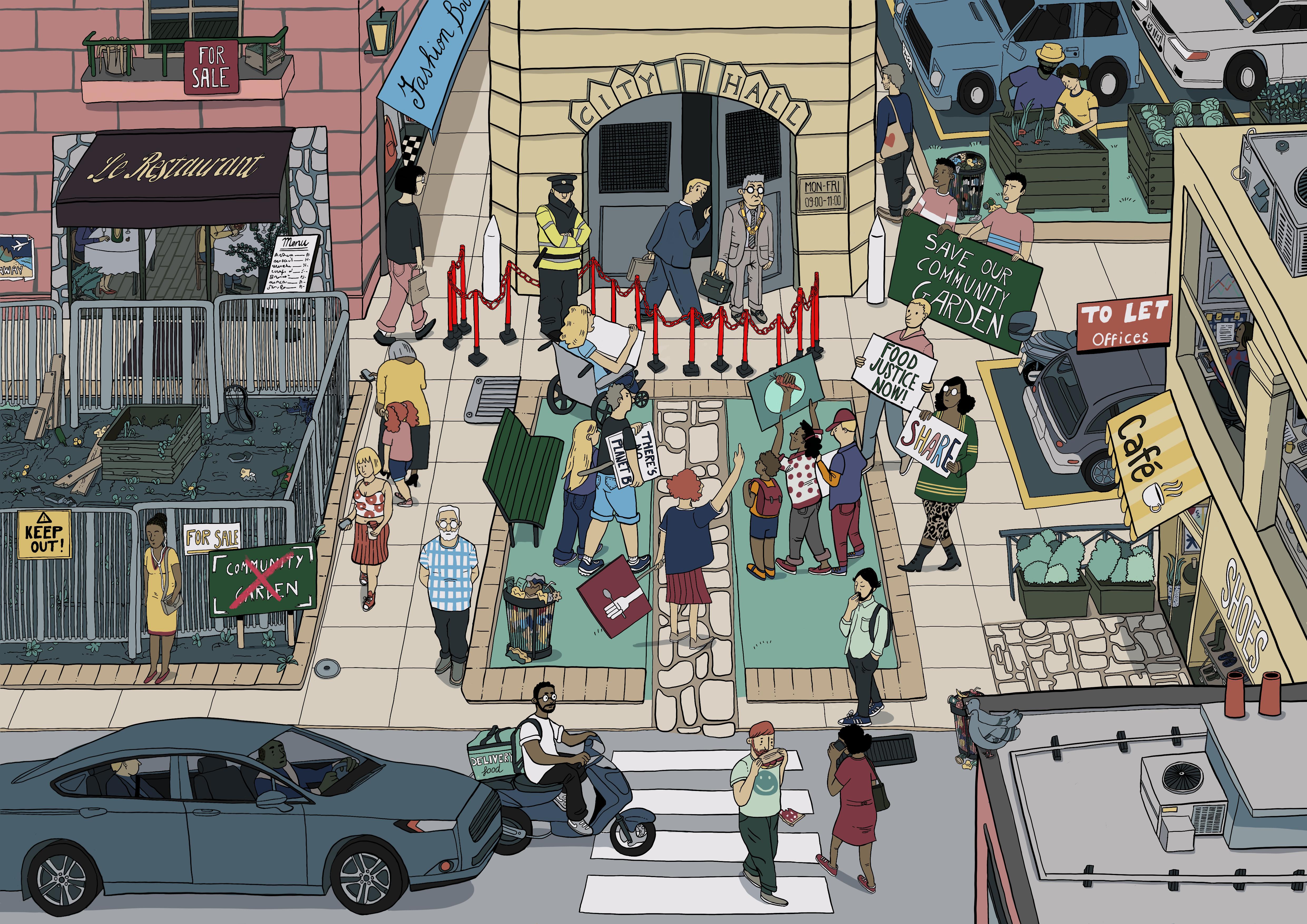 Business As Usual Scenario © RIVA Illustrations - Fiammetta Ghedini